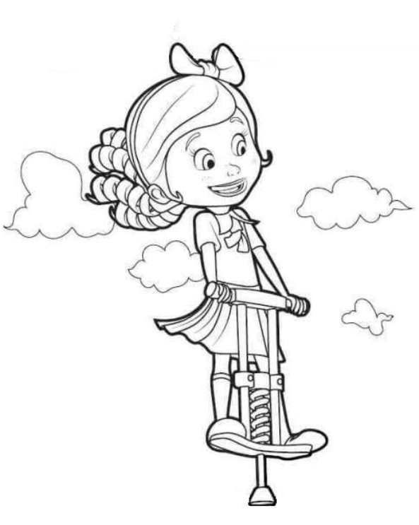 593x743 Kids N Coloring Pages Of Goldie And Bear