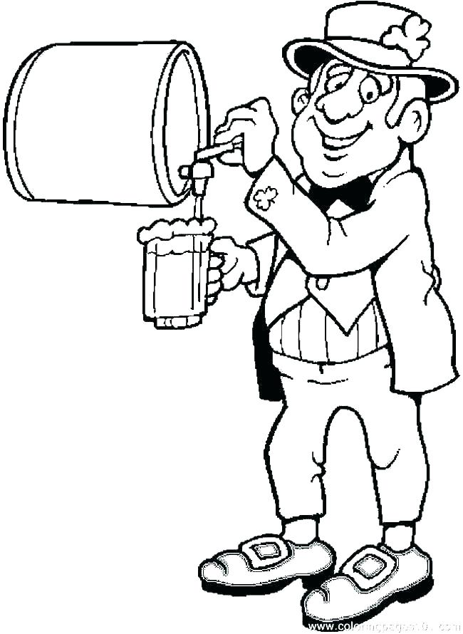 650x890 Leprechaun Coloring Page Beer Coloring Pages Free Leprechaun