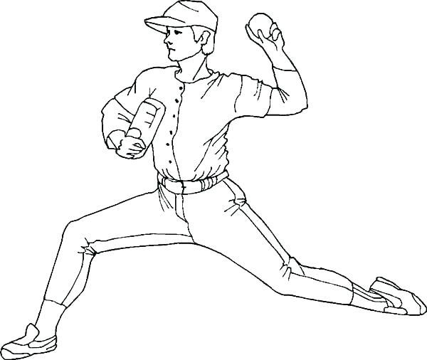 600x506 Baseball Coloring Pages Baseball Coloring Pages Pdf