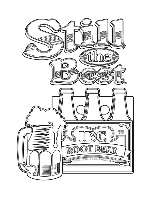 600x777 Root Beer Still The Best Beer Coloring Pages Best Place To Color