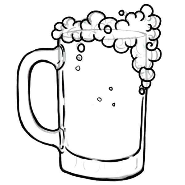 600x600 Beer Coloring Pages Octopus And Root Beer Coloring Page Beer Mug