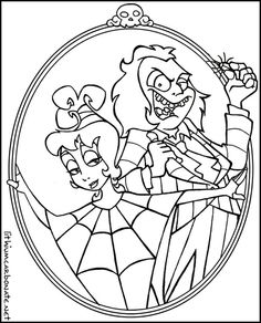 236x292 Tim Burton Coloring Pages Beetlejuice Coloring Pages Wedding