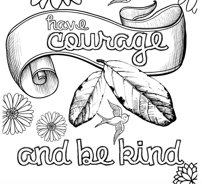 Being Kind Coloring Pages