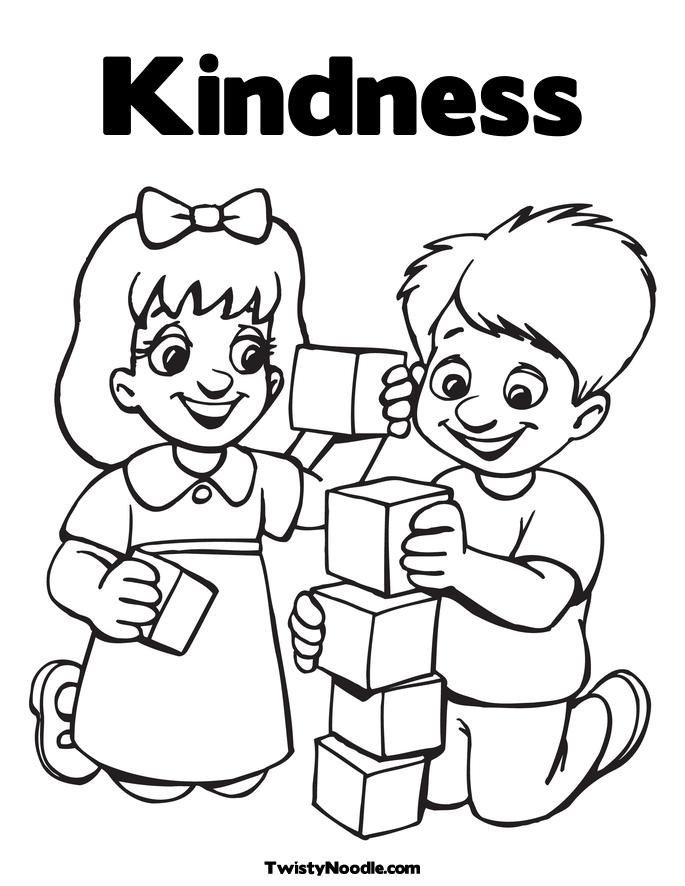 685x886 Be Kind Coloring Page Color Bros