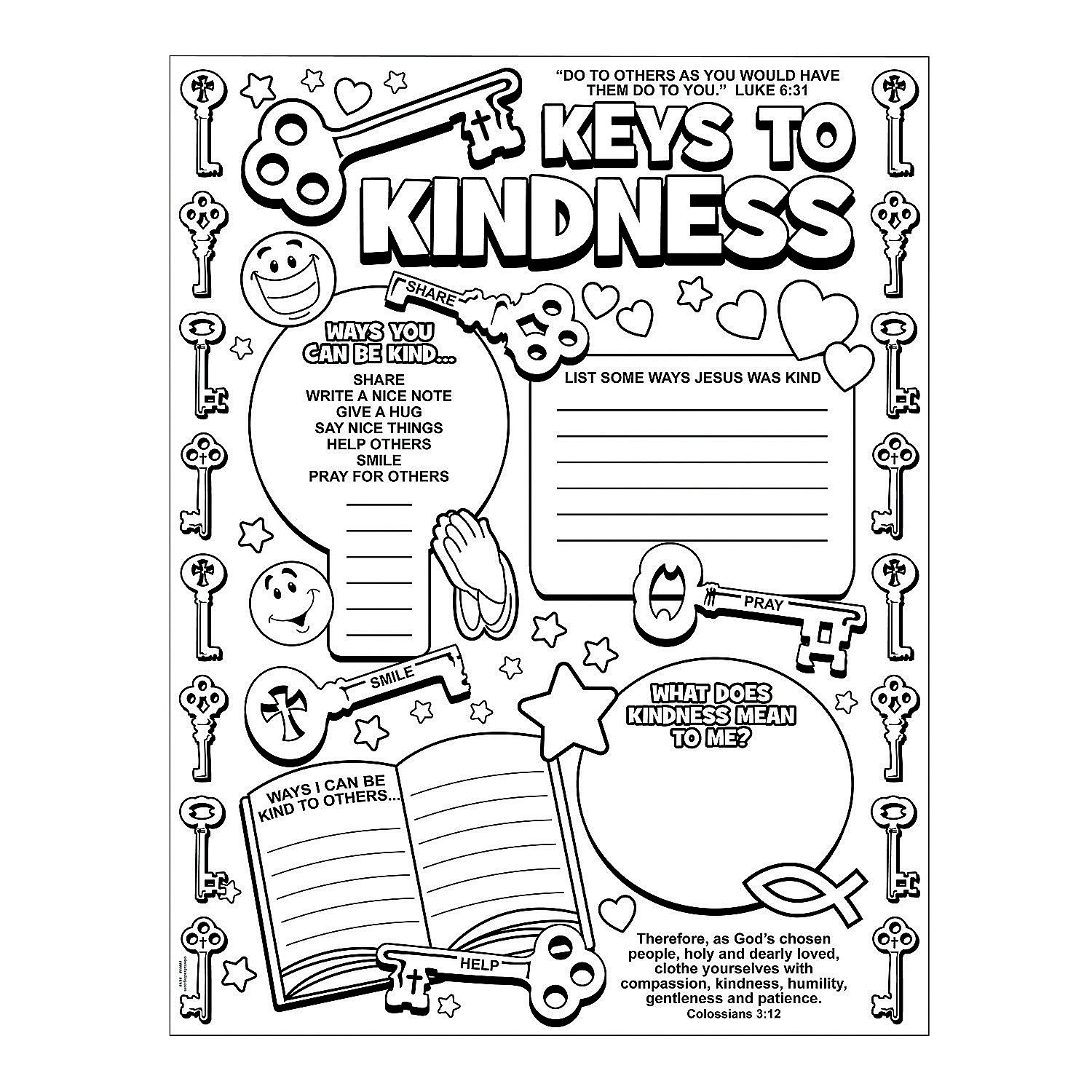 1500x1500 Coloring Pages Kindness New Color Your Own To Kindness