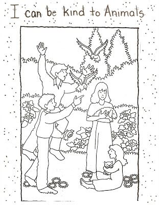 311x400 Lds Primary Lesson Helps Coloring Pages Color Page Example Glue