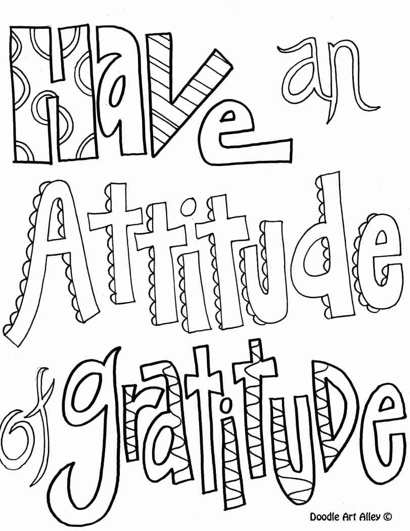 811x1049 Have Antitude Of Gratitude Coloring Pages For Older Kids