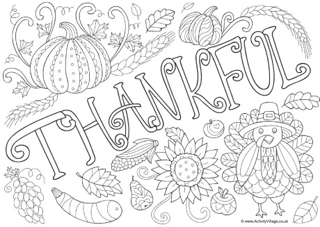 460x327 Thankful Coloring Pages Thankful Doodle Colouring Page Download