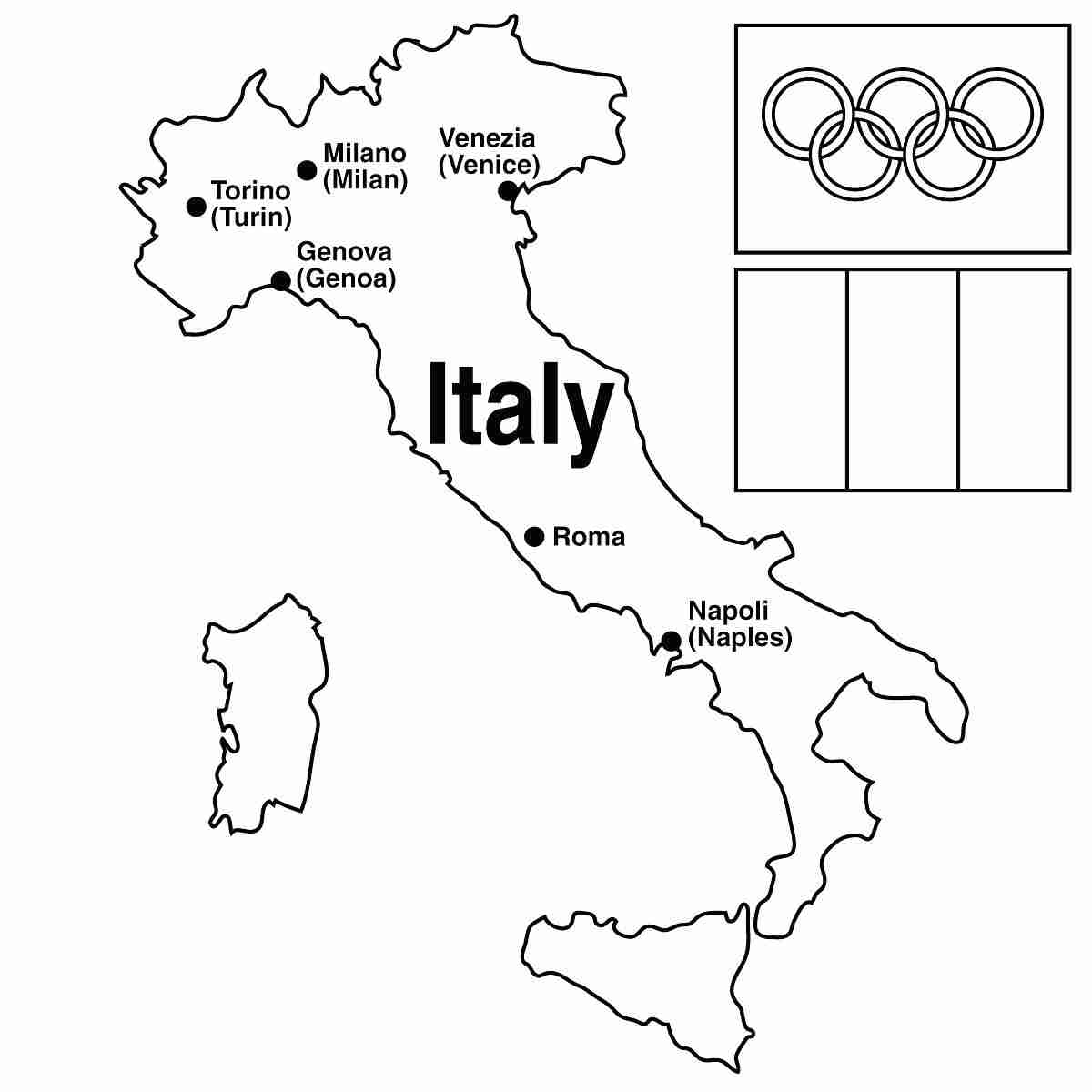 Printable Map Of Italy Free.The Best Free Italy Coloring Page Images Download From 158 Free