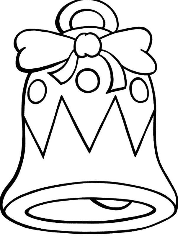 603x800 Christmas Bell Coloring Page Coloring Pages Charming Bell Coloring
