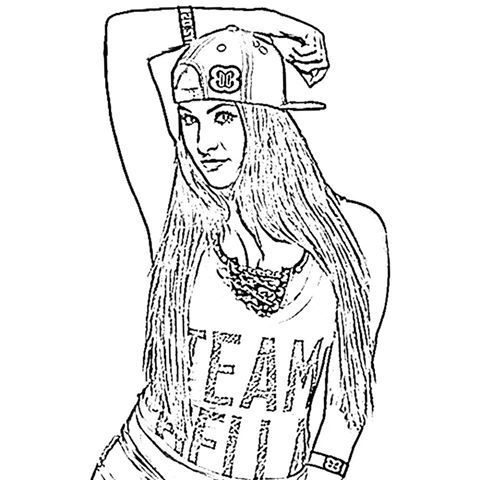 480x480 Bella Twins Coloring Pages Coloring Pages Wwe