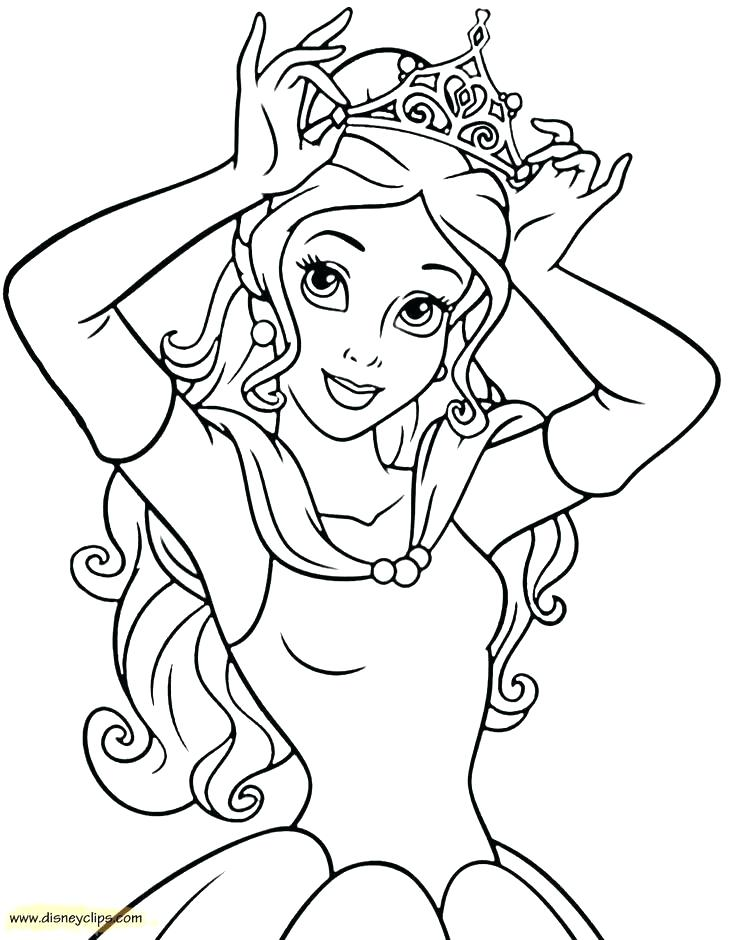 736x940 Belle Coloring Page Beauty Disney Belle Coloring Pages To Print