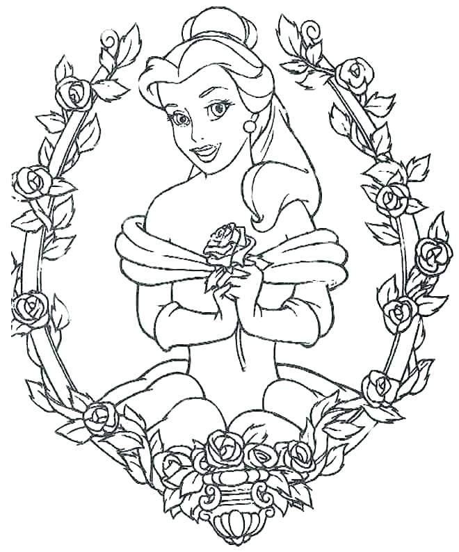 660x794 Bella Coloring Pages Belle Princess Coloring Pages Colouring