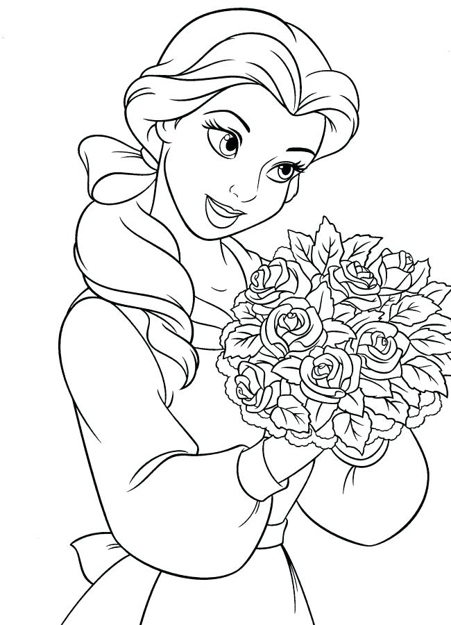 650x900 Beauty And The Beast Coloring Pages Beauty And The Beast Coloring