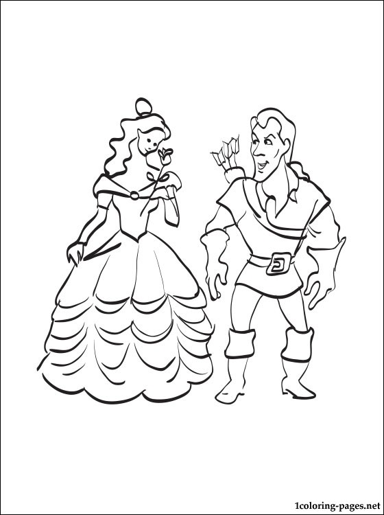 Belle Coloring Pages At Getdrawings Com Free For Personal Use