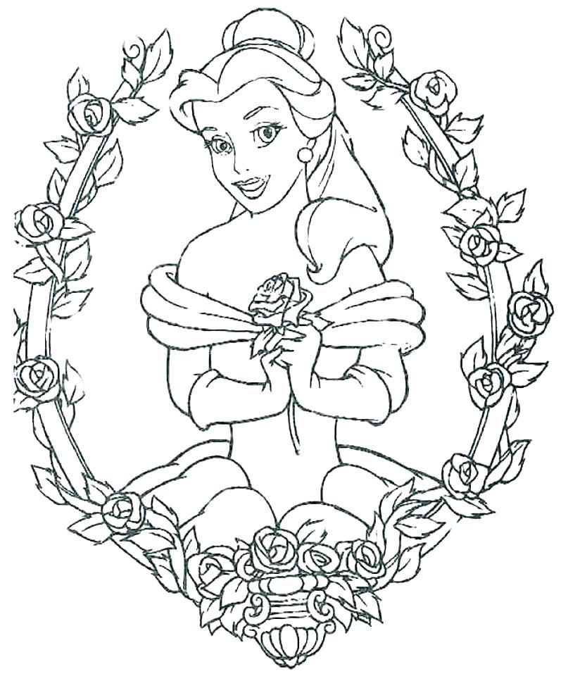 797x960 Belle Coloring Sheets Princess Belle Coloring Pages Belle Coloring