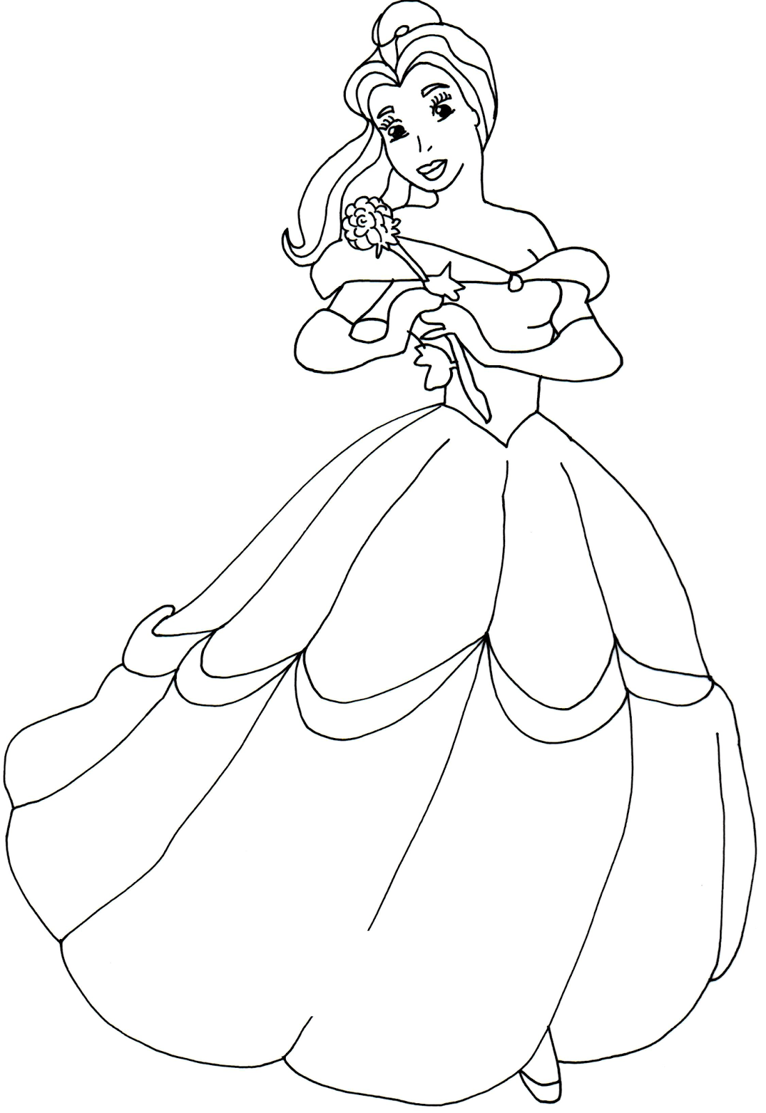 Belle Coloring Pages To Print at GetDrawings | Free download