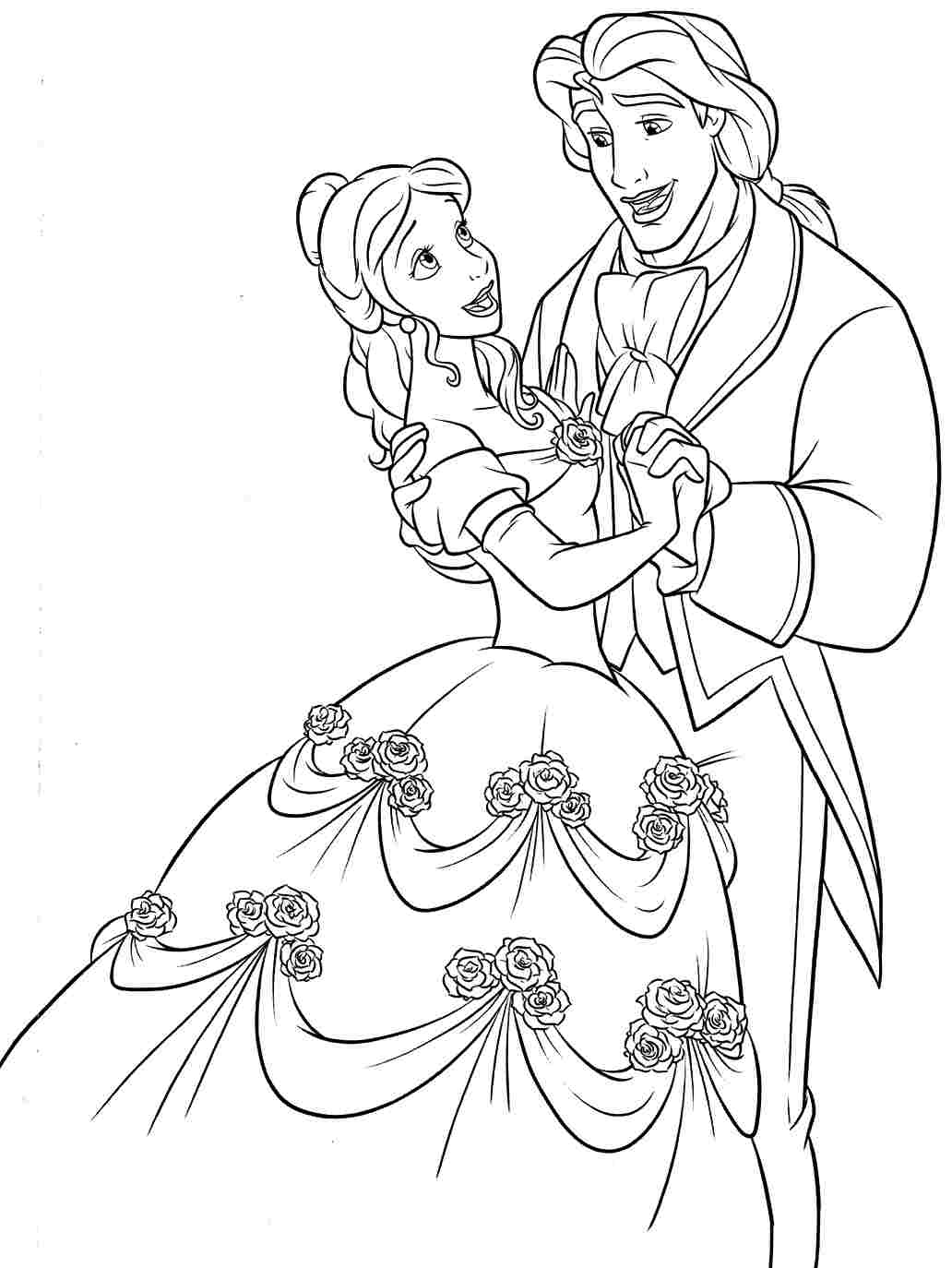Belle Coloring Pages To Print At Getdrawings Com Free For Personal