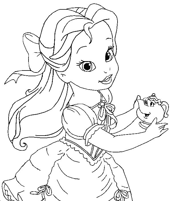 610x707 Best Baby Disney Princess Coloring Pages Free Printable