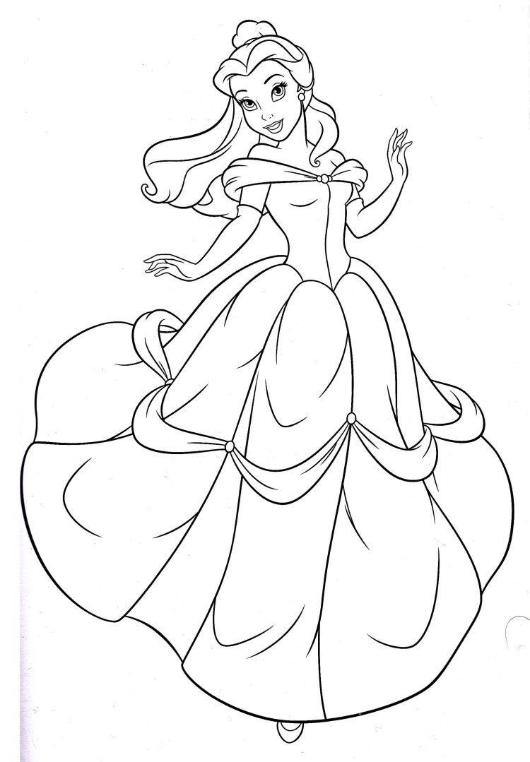 750x1079 Disney Princess Belle Coloring Pages Princess Rae