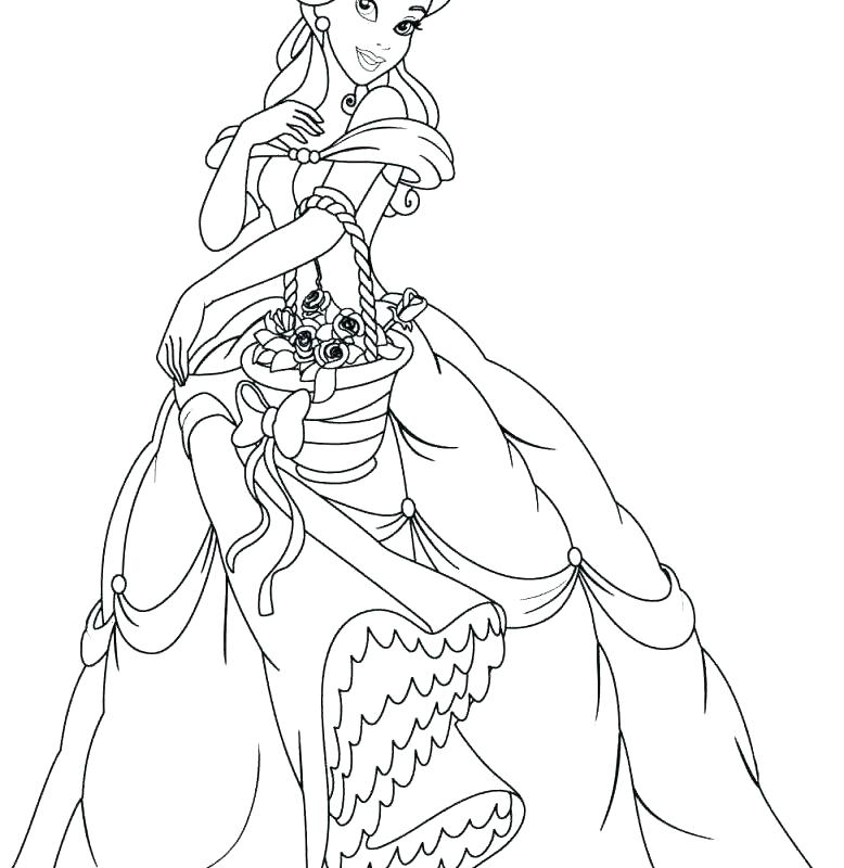 778x800 Belle Coloring Page