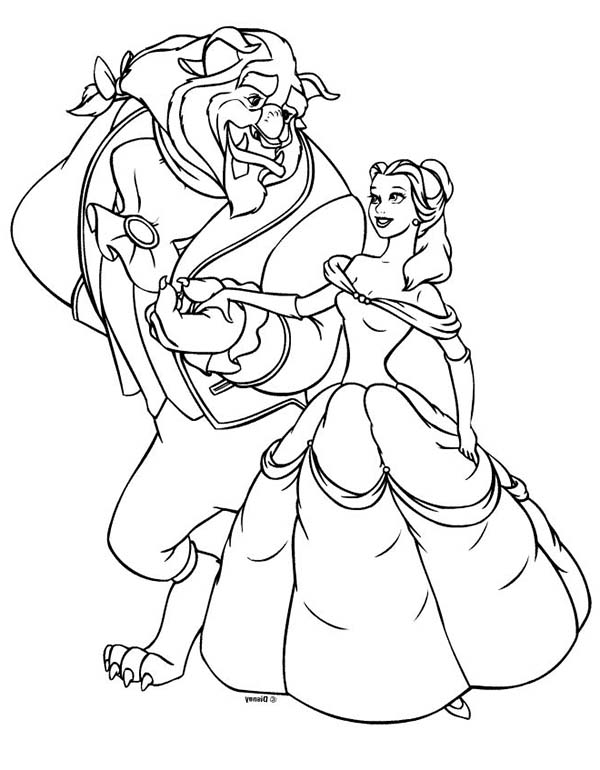 600x770 Belle Coloring Page Colouring Pages Princess Brings Intended