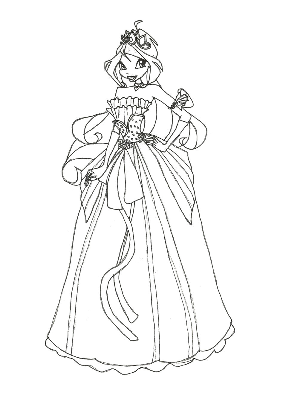 1024x1371 Winx Club Wear Dress Interesting Coloring Pages