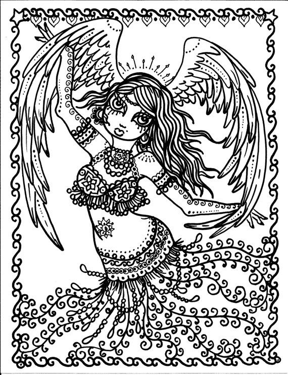 570x742 Pages Instant Download Belly Dancer Coloring Pages Digital