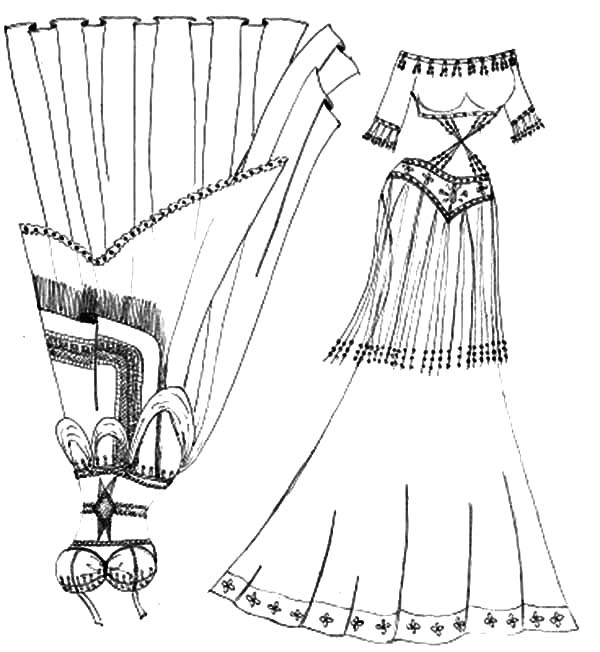 600x652 Mexican Belly Dancer Dress Coloring Pages Color Luna