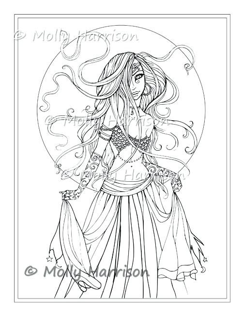 504x652 Molly Coloring Pages Gypsy Dancer Digital Stamp Printable Belly