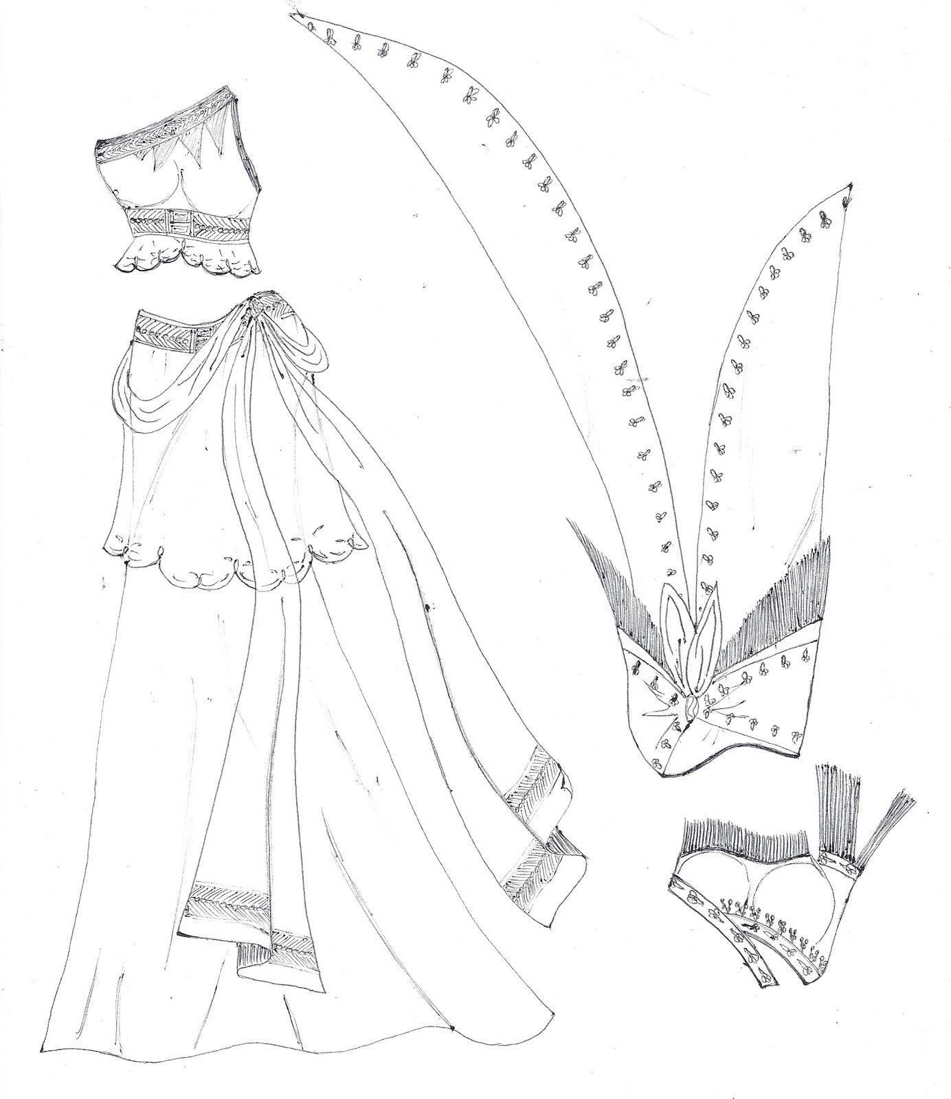 1384x1600 Paper Doll Eve Belly Dancer Costumes Coloring Page Trajes De