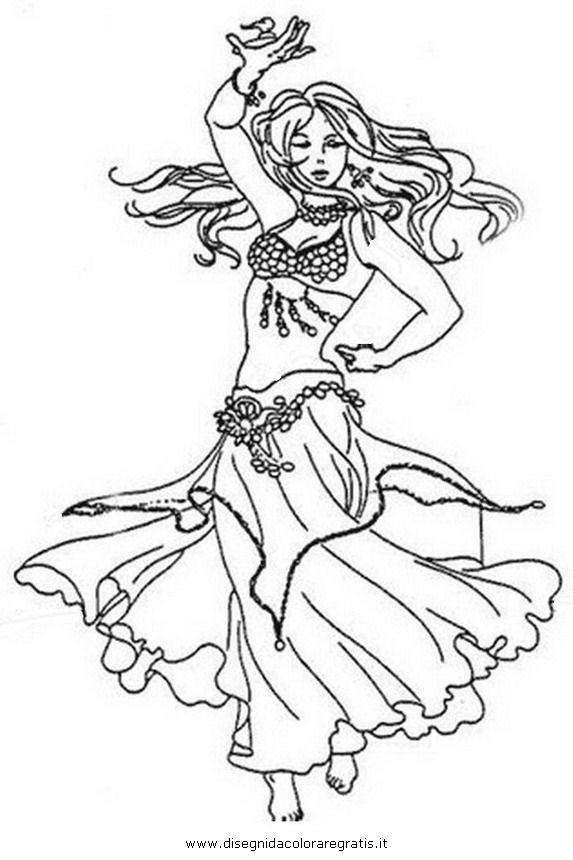 573x860 Belly Dancers Coloring Pages Disegni Da Colorare Che Potrebbero