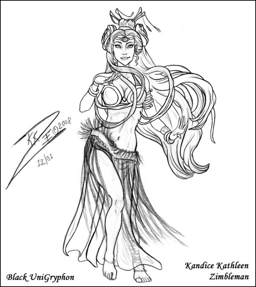 845x945 Belly Dancers Coloring Pages Tribal Belly Dancer Cleaned