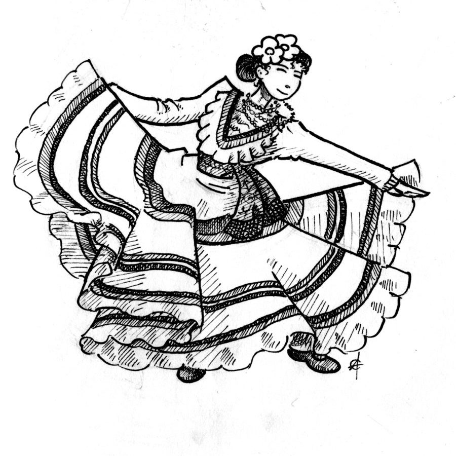 900x900 Coloring For Kids Impressive Spanish Dancing Page Pages Adults