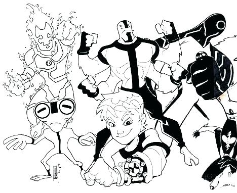Ben 10 Alien Force Coloring Pages at GetDrawings.com | Free ...