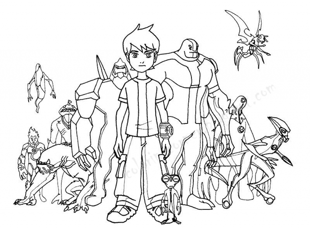 Ben 10 Coloring Pages At GetDrawings Free Download