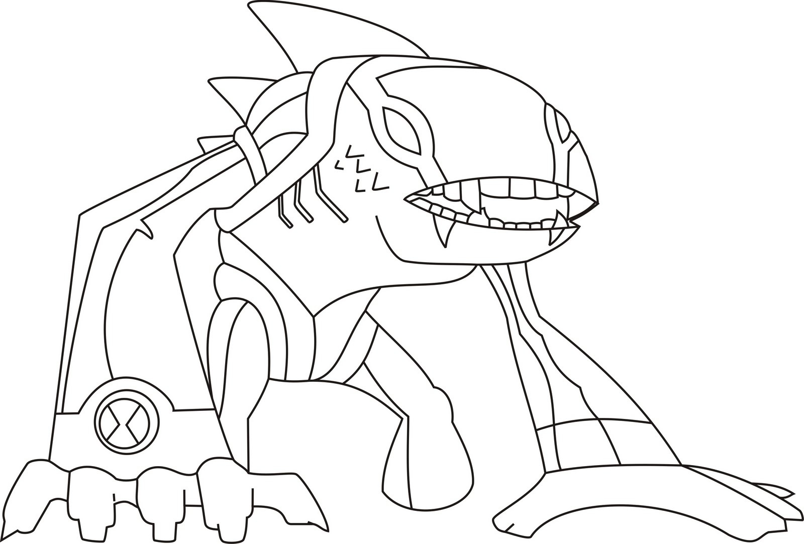 Ben 10 Omniverse Coloring Pages at GetDrawings.com | Free for ...