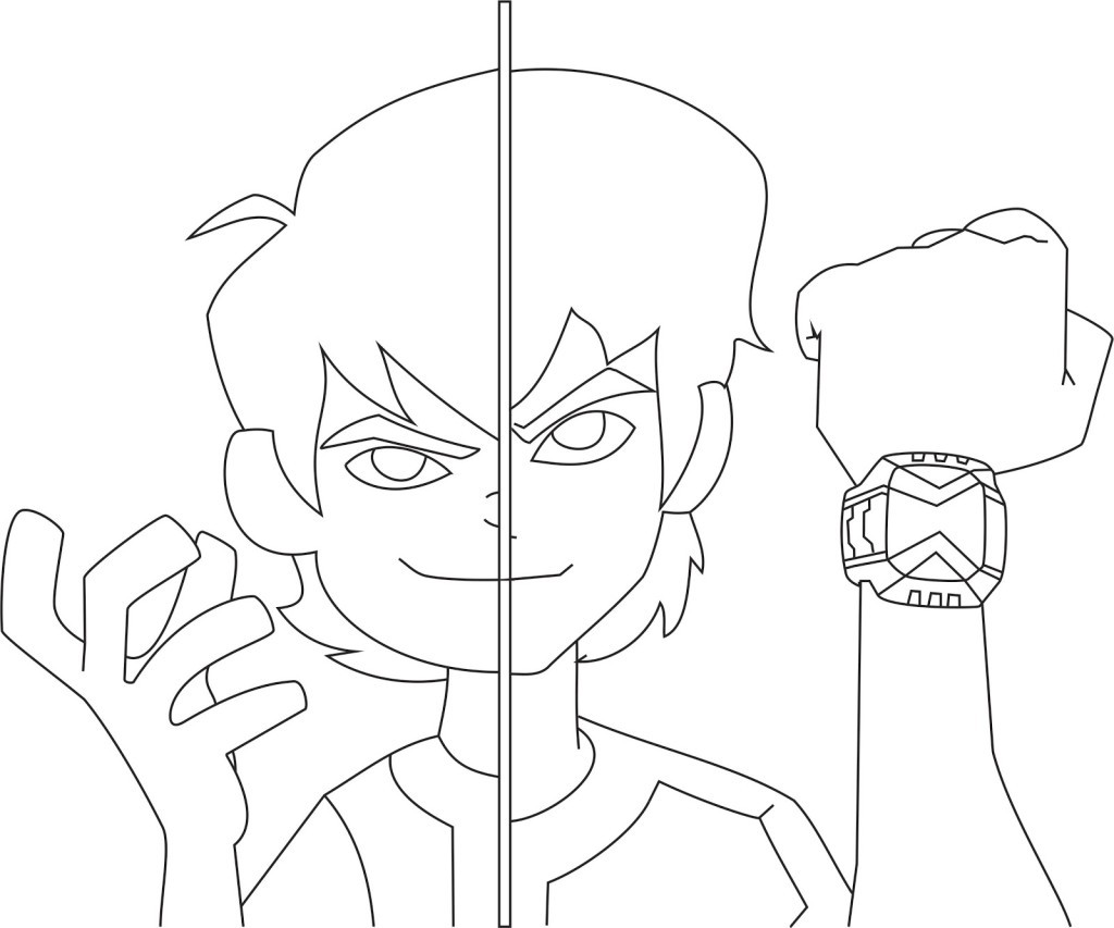 Ben 10 Omniverse Coloring Pages At GetDrawings