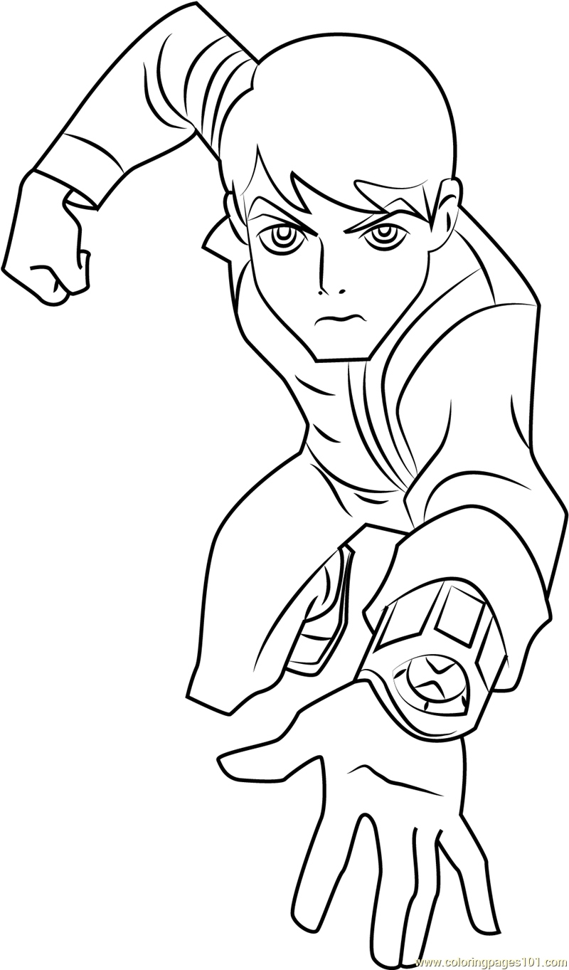 Ben 10 Omniverse Coloring Pages at GetDrawings | Free download