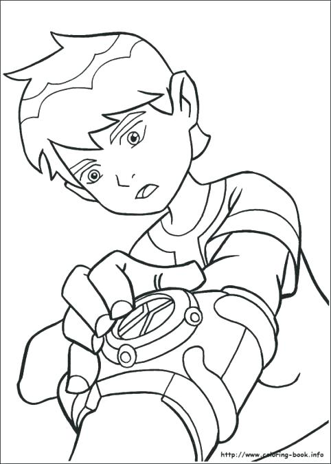 Ben Ten Omniverse Coloring Pages At Getdrawingscom Free For