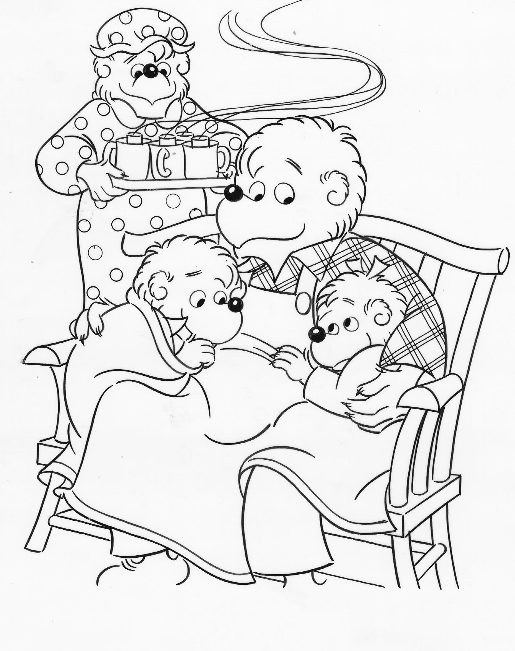 The best free Berenstain coloring page images. Download from ...