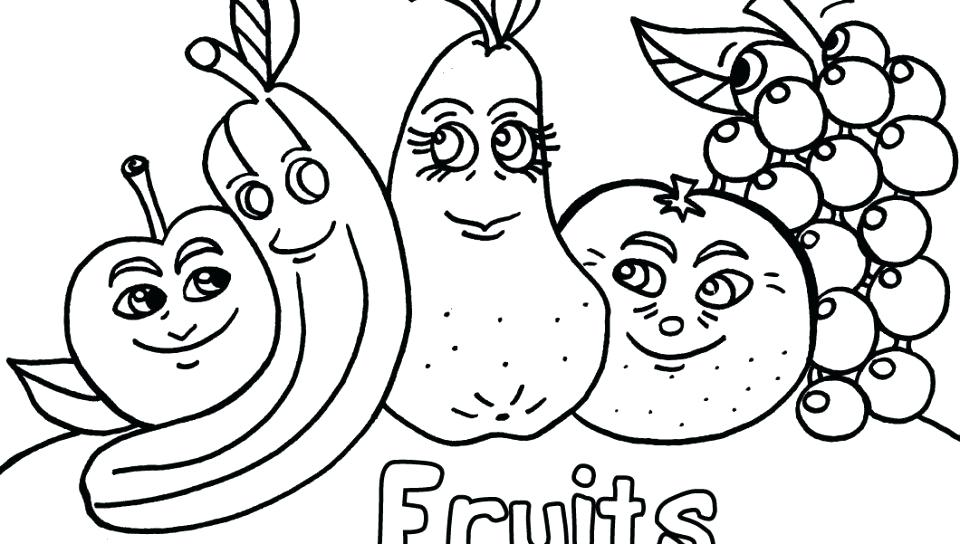 960x544 Fruit And Vegetable Colouring Pages Free Coloring Fruits Veggies