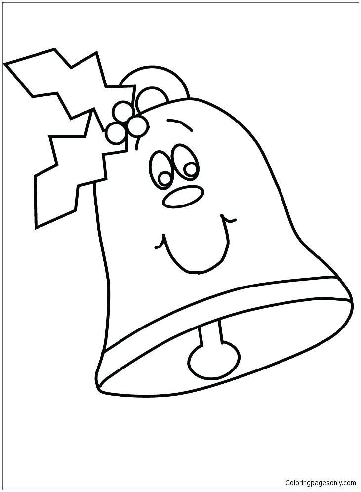 731x996 Holly Coloring Pages Holly Coloring Pages Bell With Face And Holly