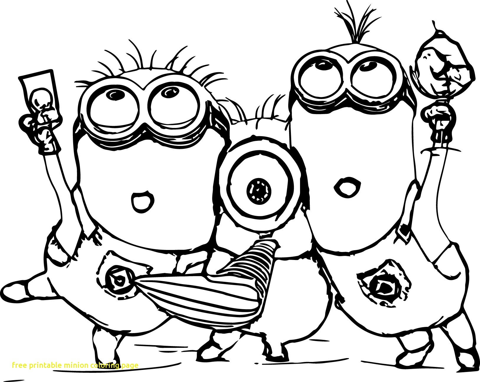 1627x1296 Free Printable Minion Coloring Page With Minion Coloring Pages