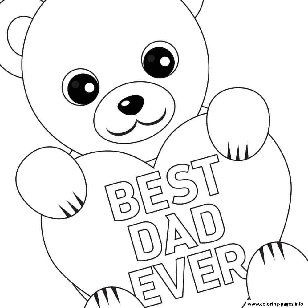 1000x1000 Free Fathers Day Printable Best Dad Coloring Pages Printable