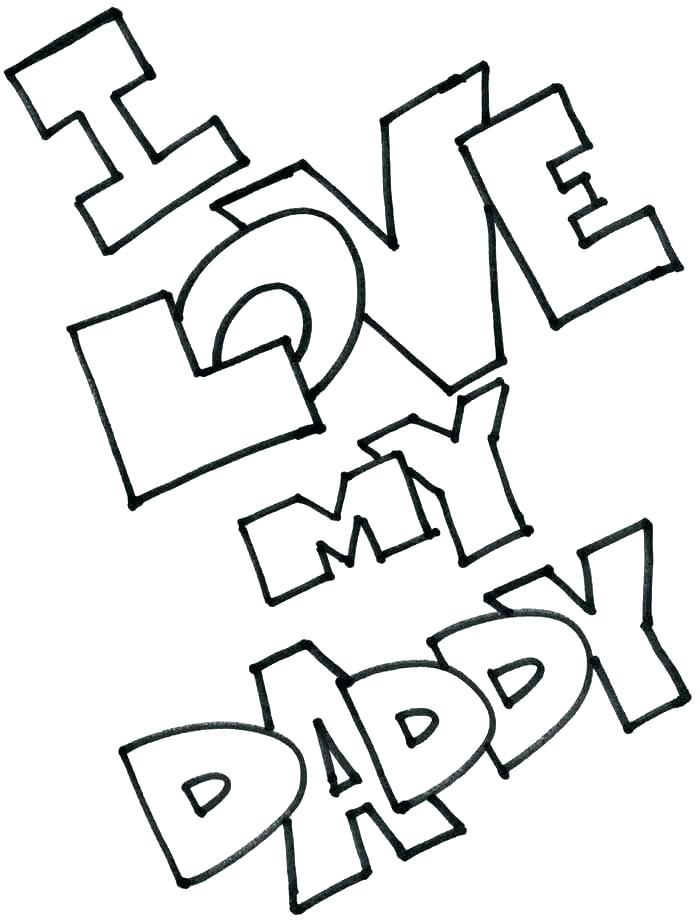700x923 Best Dad Coloring Pages Happy Father Day Card I Love Dad Coloring