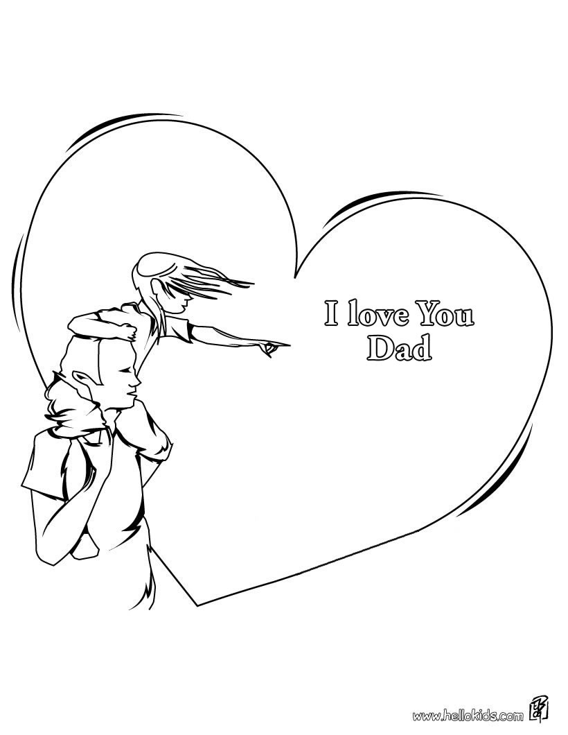 820x1060 Valuable I Love My Dad Coloring Pages You Hellokids Com