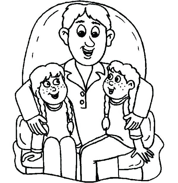 600x618 Dad Coloring Pages