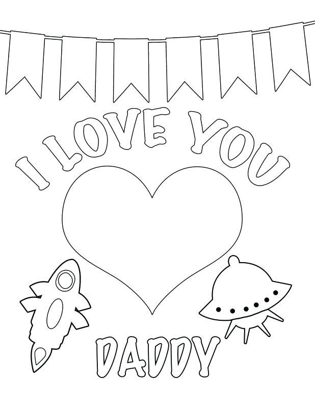 618x800 Happy Birthday Dad Coloring Card