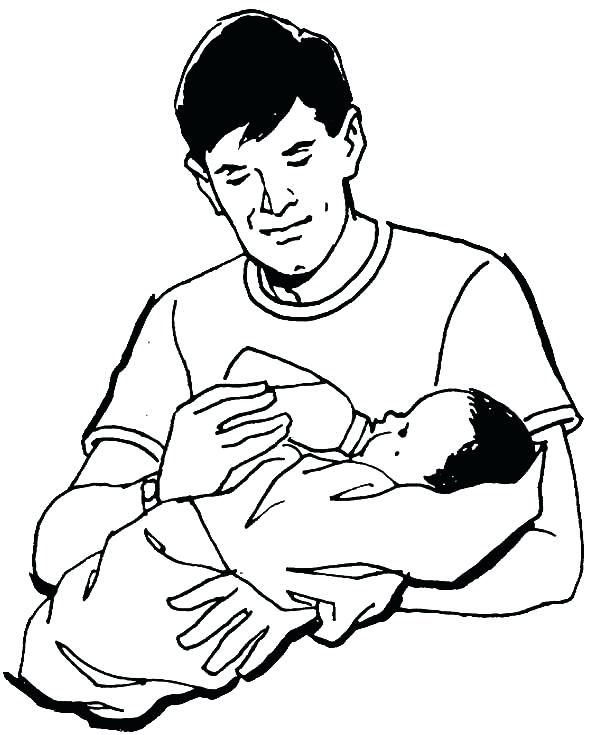 600x735 Dad Coloring Pages Best Dad Milking His Baby Coloring Pages Mom